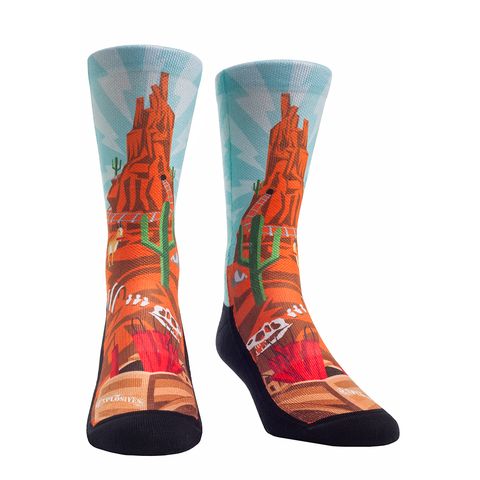 Rock Em Elite Theme Park: Wildest Ride Crew Socks