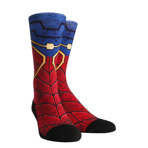 Rock Em Elite Web Slinger Super Hero L/XL Crew Socks