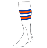 TCK Baseball Stirrups Medium (200I, 9in) White, Royal, Orange