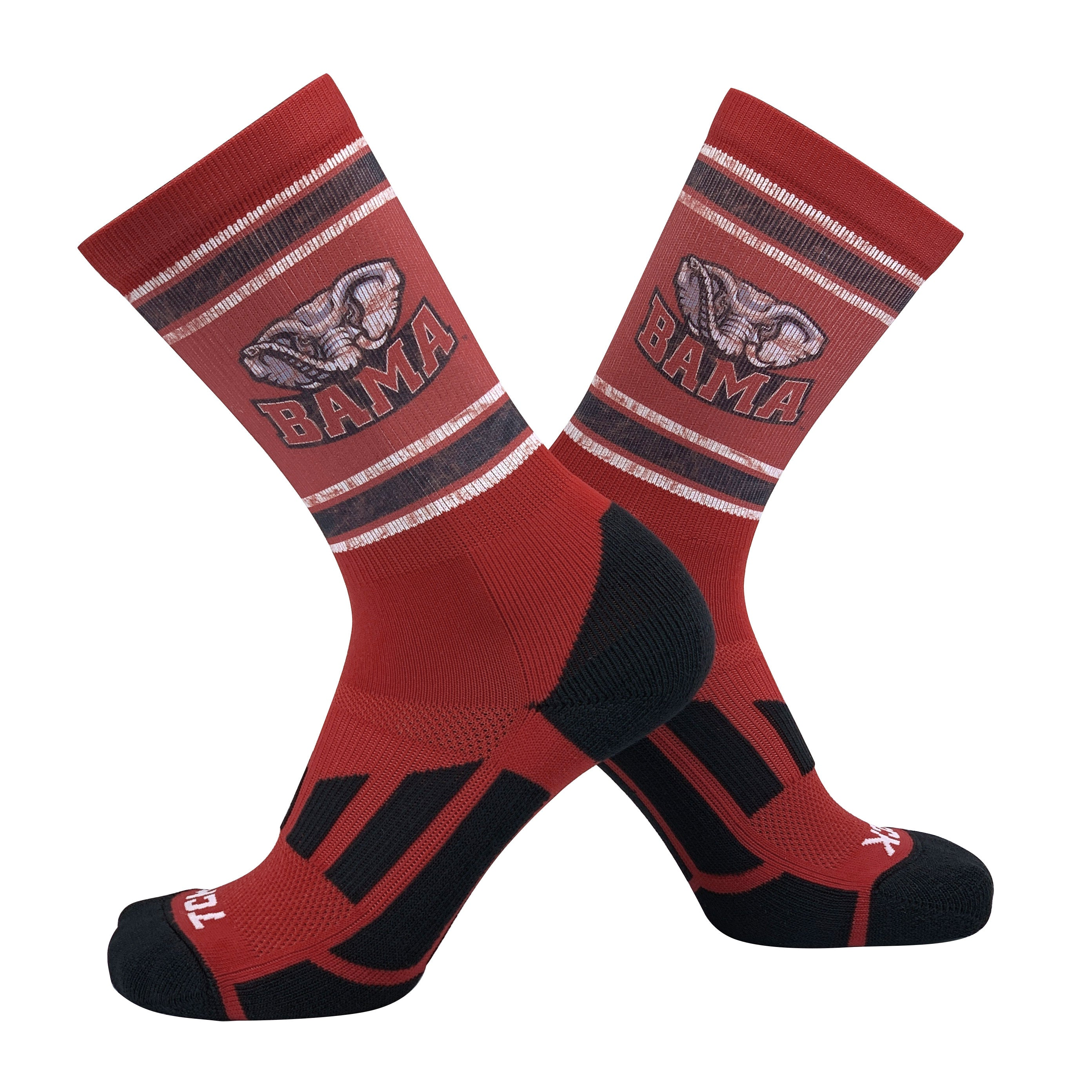TCK Vintage Alabama Crimson Tide Roll Tide Crew Socks (8-13)