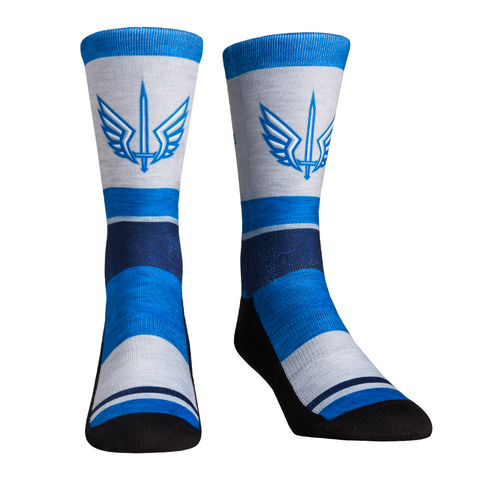 Rock Em Elite XFL St. Louis Battlehawks Heather Stripe Crew Socks (Youth (2-5.5))