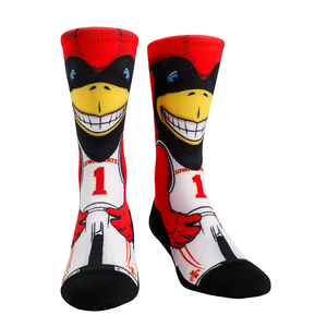 Rock Em Elite Iowa State Cyclones HyperOptic Mascot NCAA Crew Socks (L/XL)
