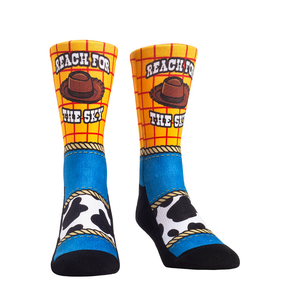 Rock Em Elite Theme Park: Sheriff Reach for the Sky Crew Socks