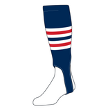 TCK Baseball Stirrups Medium (200I, 5in) Navy, White, Red