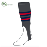 TCK Baseball Stirrups Medium (200I, 7in) Graphite, Navy, Red
