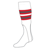 TCK Baseball Stirrups Medium (200I, 9in) White, Red, Graphite