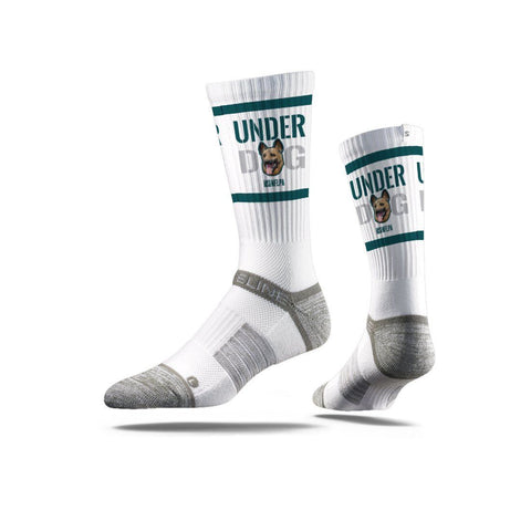 NFLPA Strideline Eagles Underdog White Crew Socks