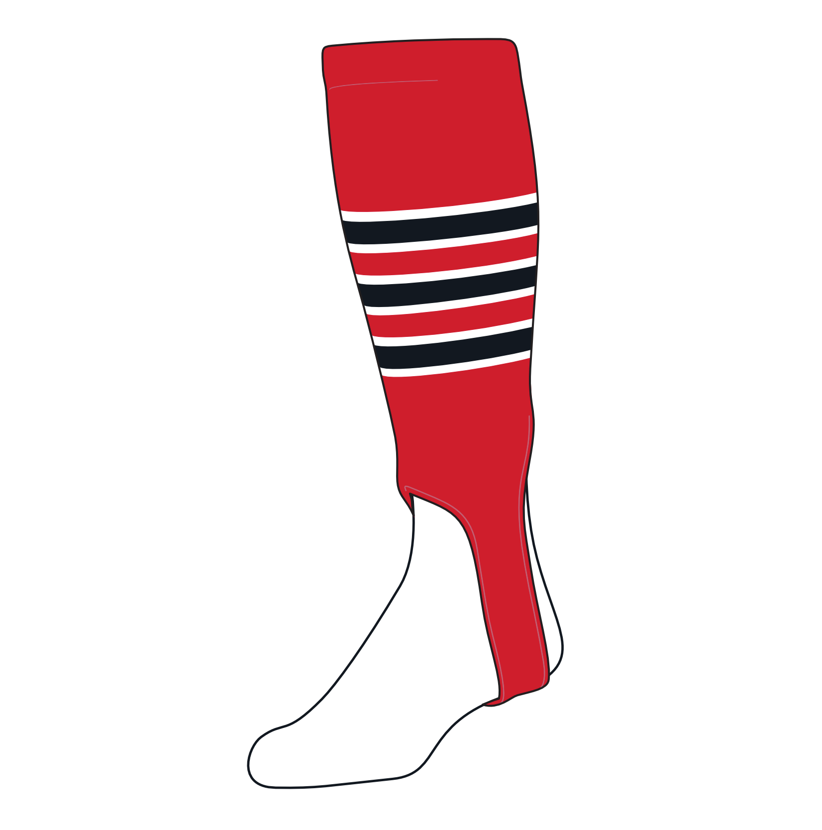 TCK Baseball Stirrups Small/Youth (100D, 4in) Red, White, Black