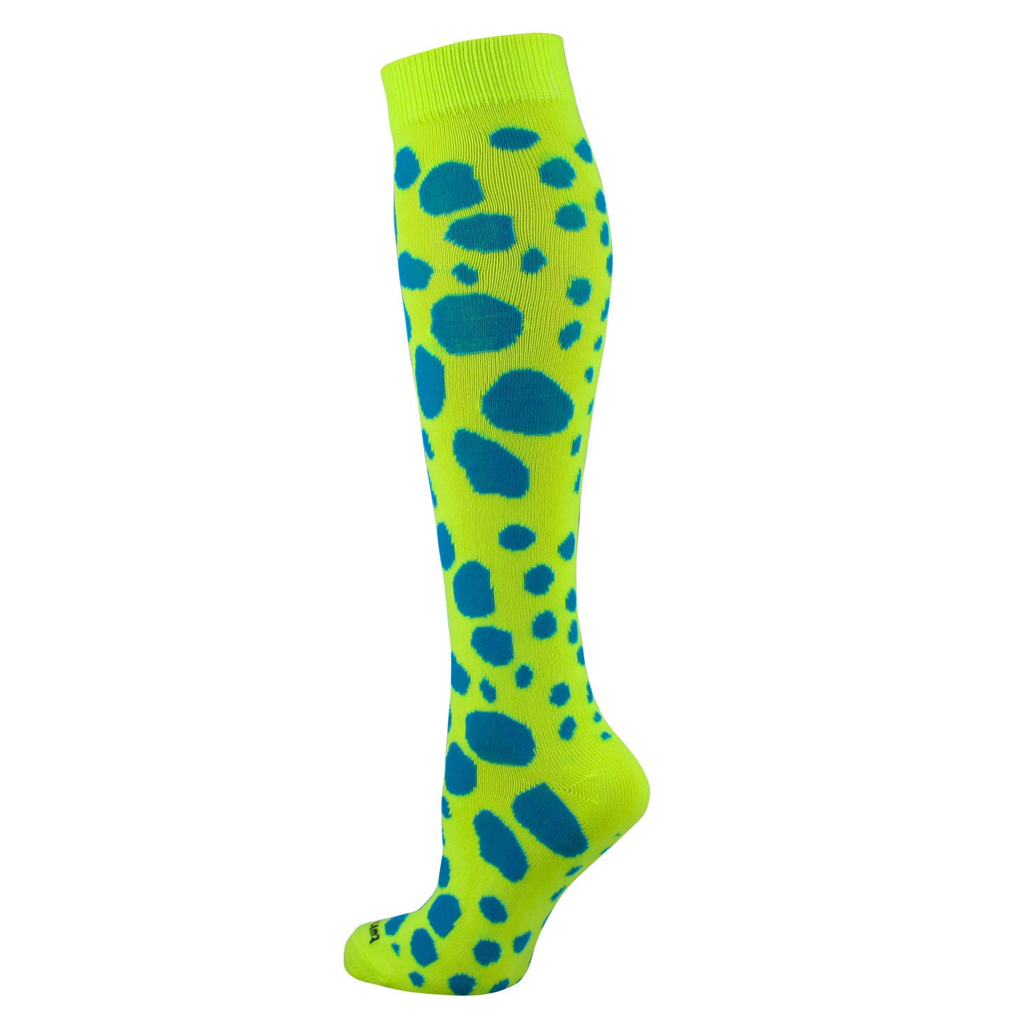 TCK Krazisox Leopard Cat Spots Print Elite Volleyball Long Knee-High Socks NEW