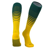 TCK Elite Breaker Fade Lines Knee High Socks Dark Green, Gold