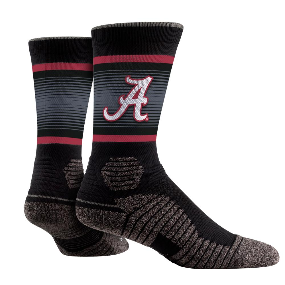 Rock Em Elite Alabama Crimson Tide Overdrive NCAA Licensed Crew Socks (L/XL)