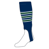 TCK Baseball Stirrups Medium (200D, 5in) Navy, White, Dk Green