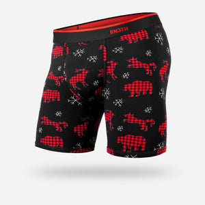 BN3TH Men's Classic Boxer Brief-Prints Collection: Wild Tartan