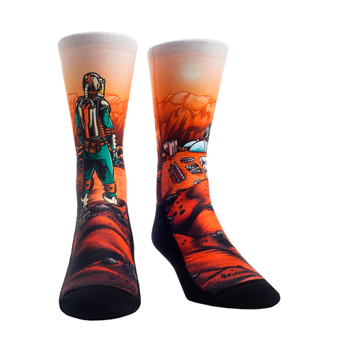 Rock Em Elite Space Mars Colony Crew Socks