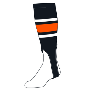 TCK Baseball Stirrups Large (300E, 7in) Black, White, Orange