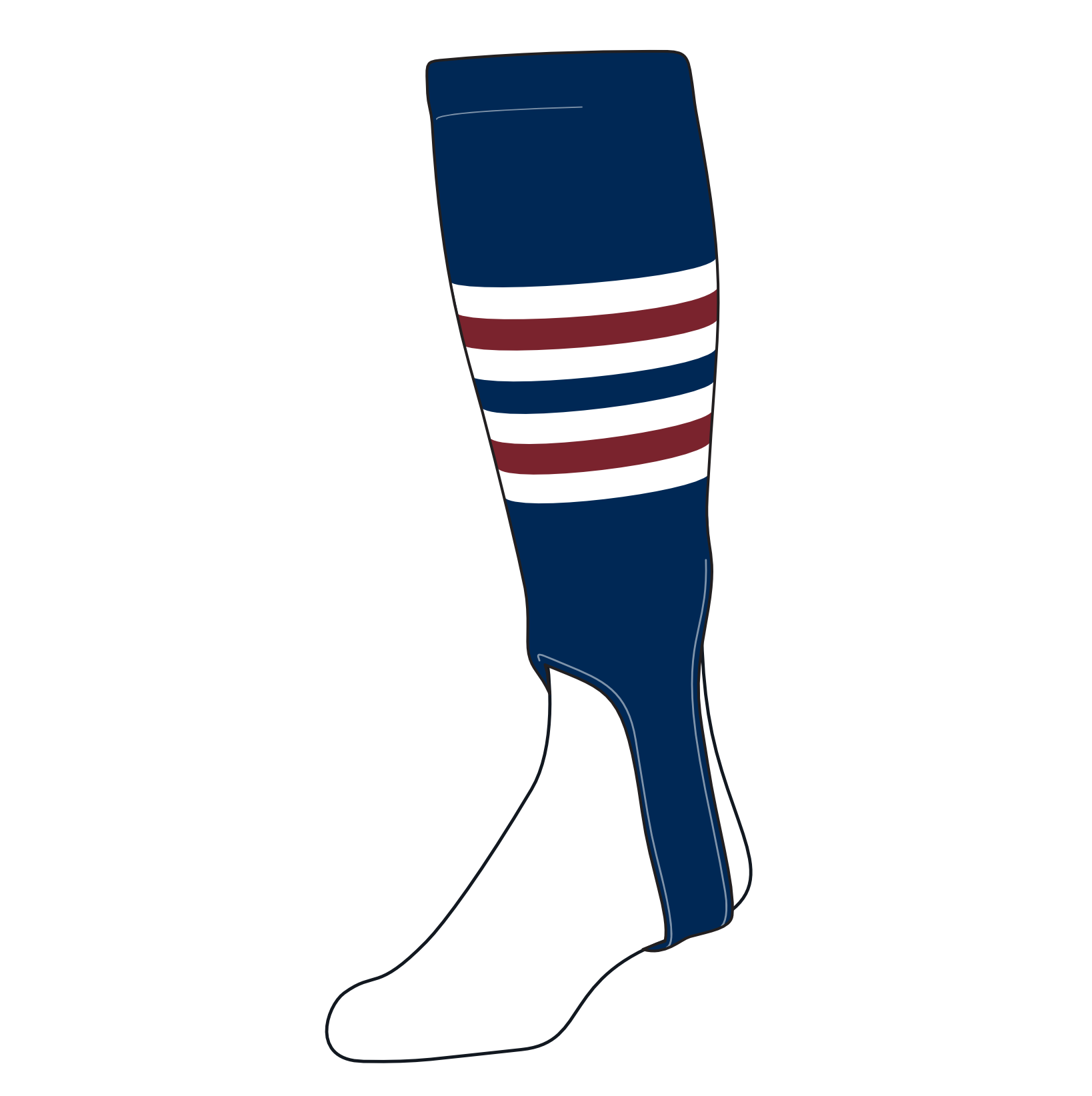 TCK Baseball Stirrups Medium (200I, 5in) Navy, White, Cardinal