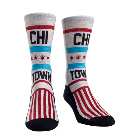 Rock Em Elite Chicago Flag Stand Up Crew Socks