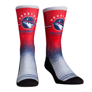 Rock Em Elite XFL Houston Roughnecks Splatter Crew Socks