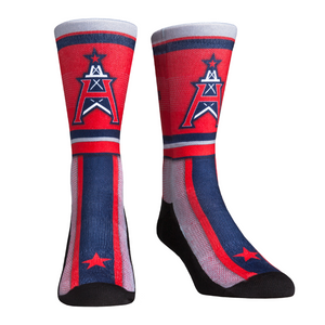 Rock Em Elite XFL Houston Roughnecks Team Stripe Crew Socks (Youth (2-5.5))
