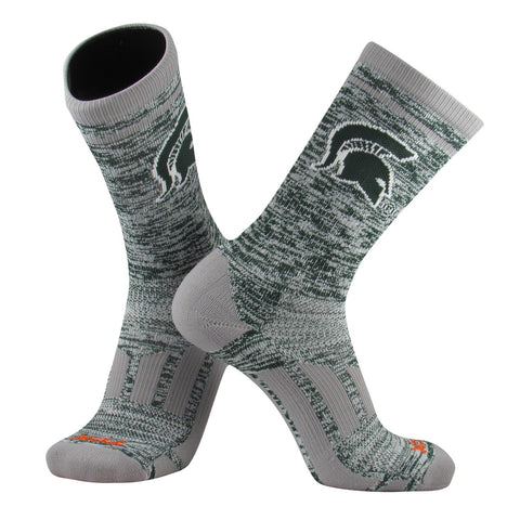 TCK Sports Michigan State Spartans Heather NCAA Crew Socks