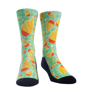 Rock Em Elite Theme Park: Pineapple Float Crew Socks