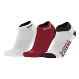 Topsox Alabama Crimson Tide 3pr Pack NCAA Logo No Show Socks