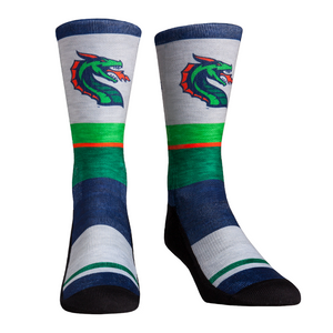 Rock Em Elite XFL Seattle Dragons Heather Stripe Crew Socks
