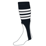 TCK Baseball Stirrups Medium (200I, 9in) Black, White, Graphite