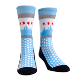 Rock Em Elite Chicago Windy City Flag Crew Socks