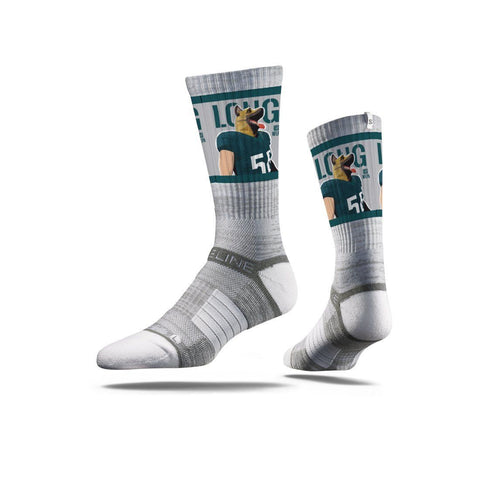NFLPA Strideline Chris Long Underdog Grey Crew Socks