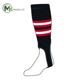 TCK Baseball Stirrups Medium (200I, 5in) Black, Red, White