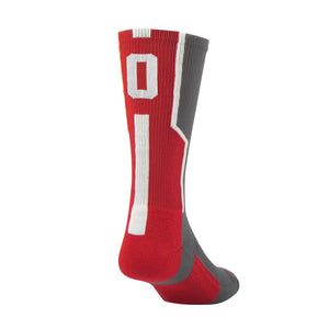TCK Player ID Jersey Number Crew Socks Red Graphite Singles
