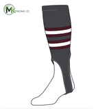 TCK Baseball Stirrups Medium (200I, 7in) Graphite, Maroon, White