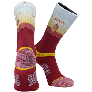 Strideline Iowa State Clock Tower Cardinals Crew Socks