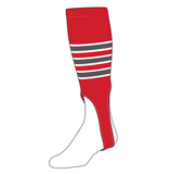 TCK Baseball Stirrups Small/Youth (100D, 6in) Red, White, Graphite