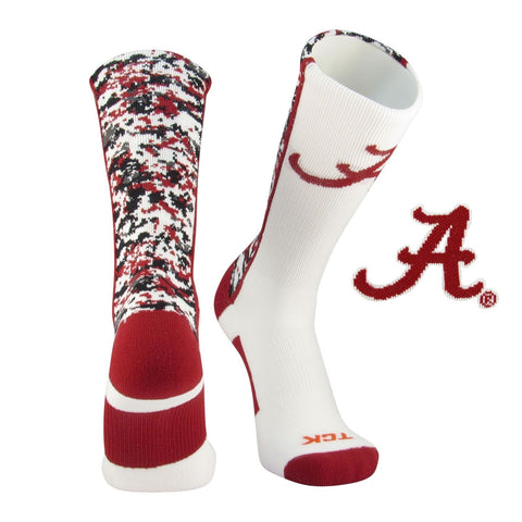TCK Digital Camo Elite NCAA Licensed Alabama Crimson Tide Crew Socks