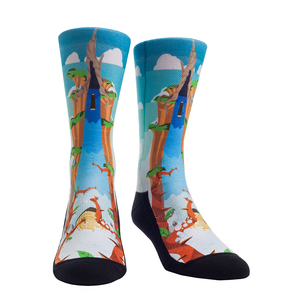 Rock Em Elite Theme Park: Laughing Place Crew Socks