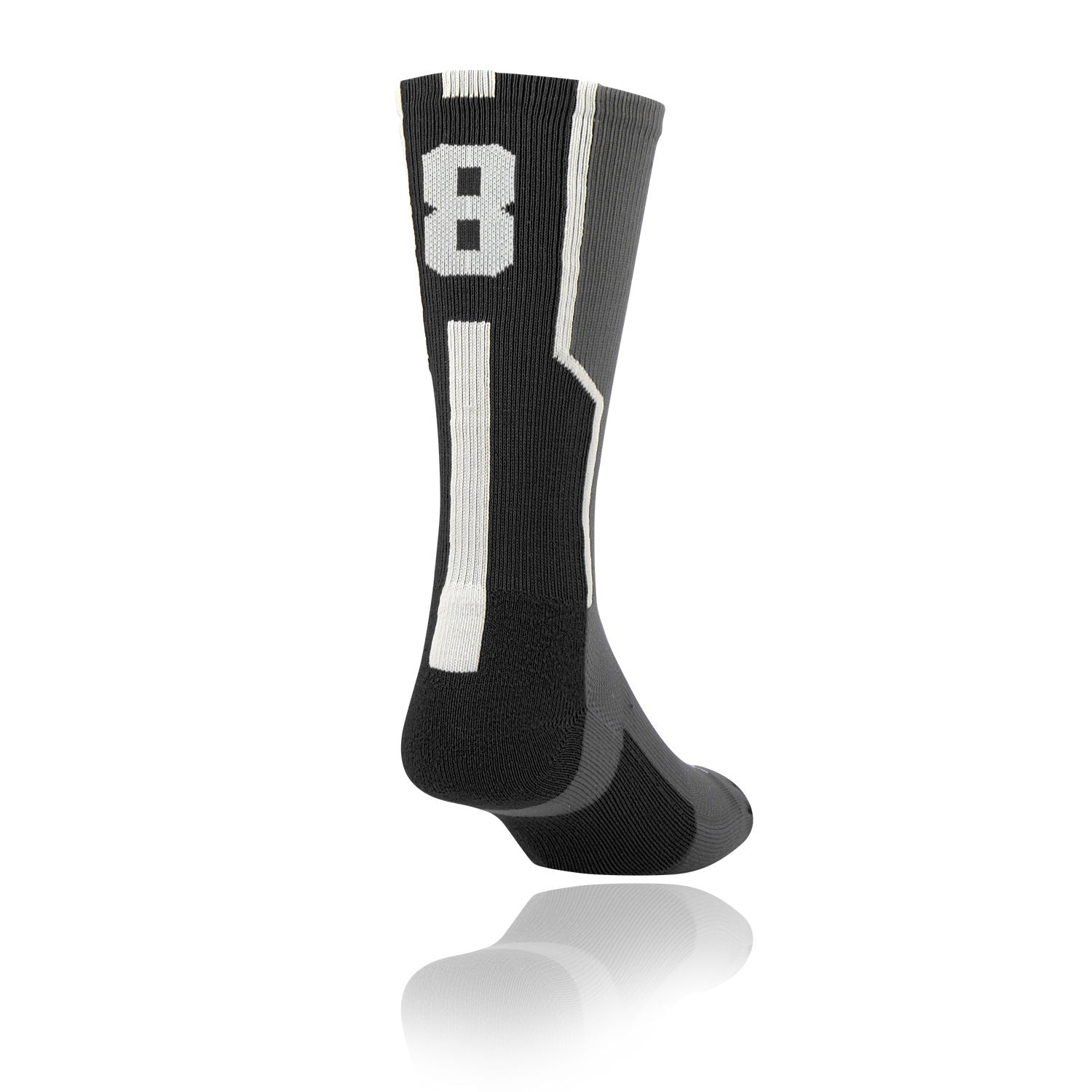 TCK Player ID Jersey Number Crew Socks Black, Graphite, White Singles