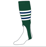 TCK Baseball Stirrups Large (300I, 7in) Dark Green, White, Navy