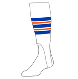 TCK Baseball Stirrups Medium (200F, 7in) White, Royal, Orange