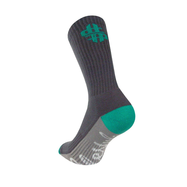 Legends Sock Company Freehand Profit Teal King Tut Crew Socks