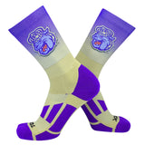 TCK JMU James Madison Dukes Ombre NCAA Licensed Crew Socks (8-13)