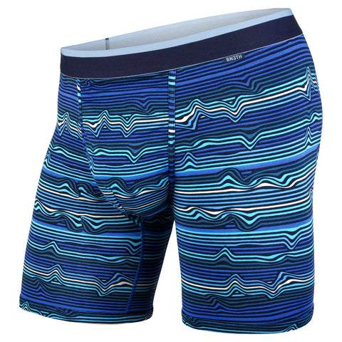 BN3TH (MyPakage) Classic Modal Boxer Brief: Warp Stripe/Blue