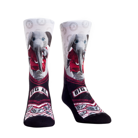 Rock Em Elite, Alabama Crimson Tide Mascot Walkout NCAA Licensed Crew Socks