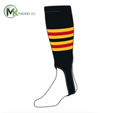 TCK Baseball Stirrups Medium (200I, 5in) Black, Gold, Red