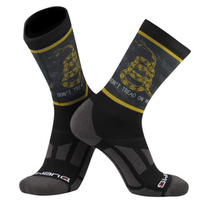 Swanq Gadsden Flag Don't Tread on Me Elite Flag Crew Socks by TCK (One Size)