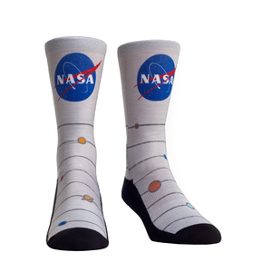 Rock Em NASA Space Heather Crew Socks