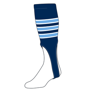 TCK Baseball Stirrups Large PRO (700D, 9in) Navy, White, Baby Blue