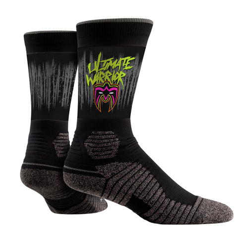Rock Em Elite The Ultimate Warrior Ripped Hex Performance WWE Crew Socks L/XL