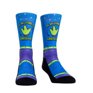 Rock Em Elite Theme Park: Little Green Guy Crew Socks